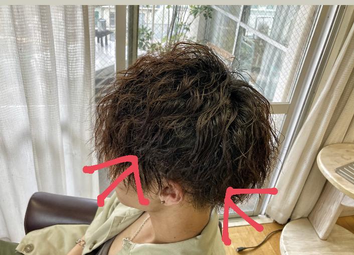 ツイストスパイラルパーマの髪が短くて良い部分
